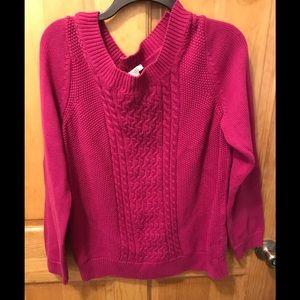 Women pink sweater. Size Large